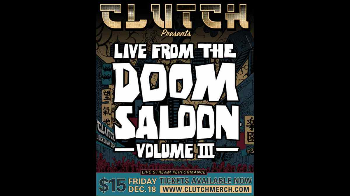 Clutch Announce Live from the Doom Saloon - Volume III