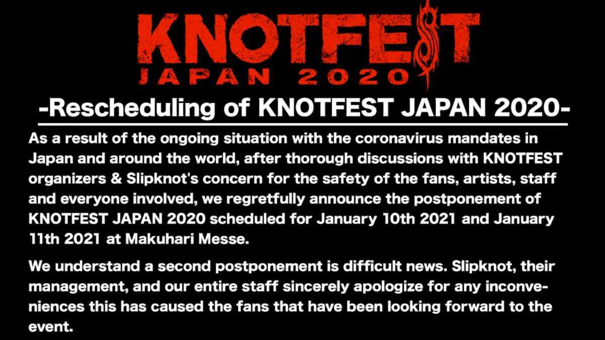 Slipknot Push Back Knotfest Japan To 2022