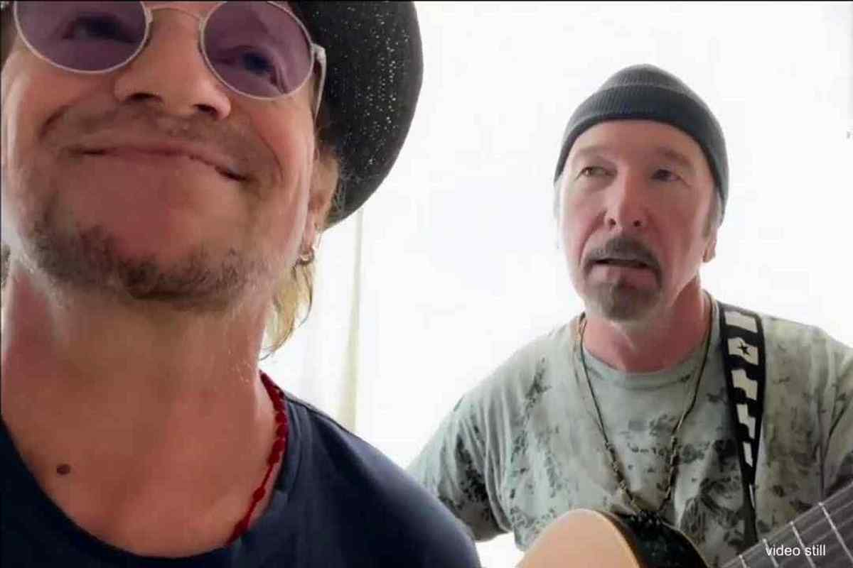 U2's Bono and The Edge Unplug For Cover Of 'Stairway To Heaven' 2020 In Review