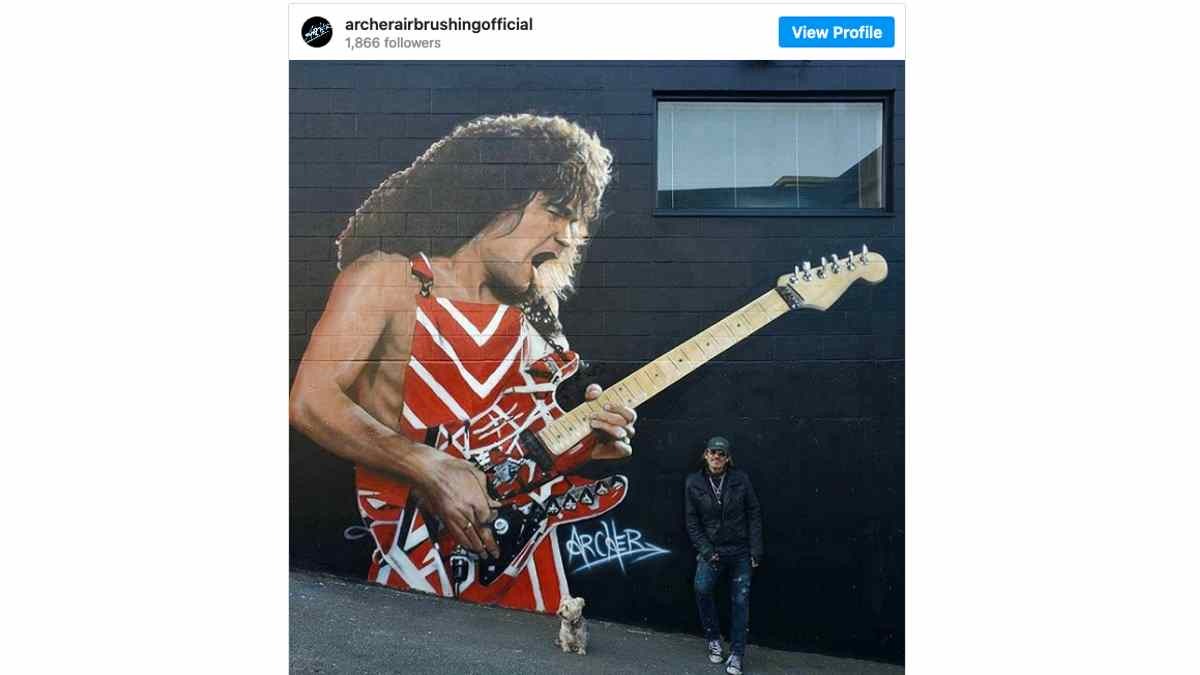 Eddie Van Halen Receives Giant Mural Tribute