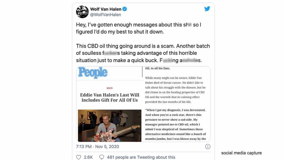 Eddie Van Halen's 'Final Gift' Story Is Not True Says His Son