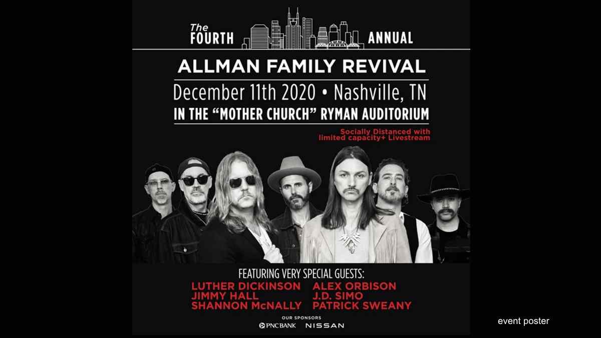 4th Annual Allman Family Revival To Be Livestreamed
