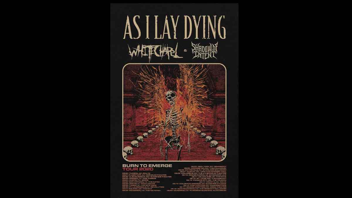 As I Lay Dying, Whitechapel's Burn To Emerge Tour Canceled