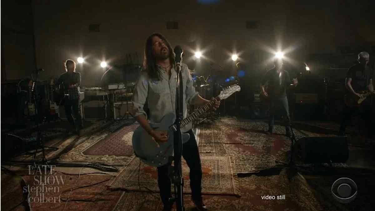 Foo Fighters Perform On The Late Show With Stephen Colbert