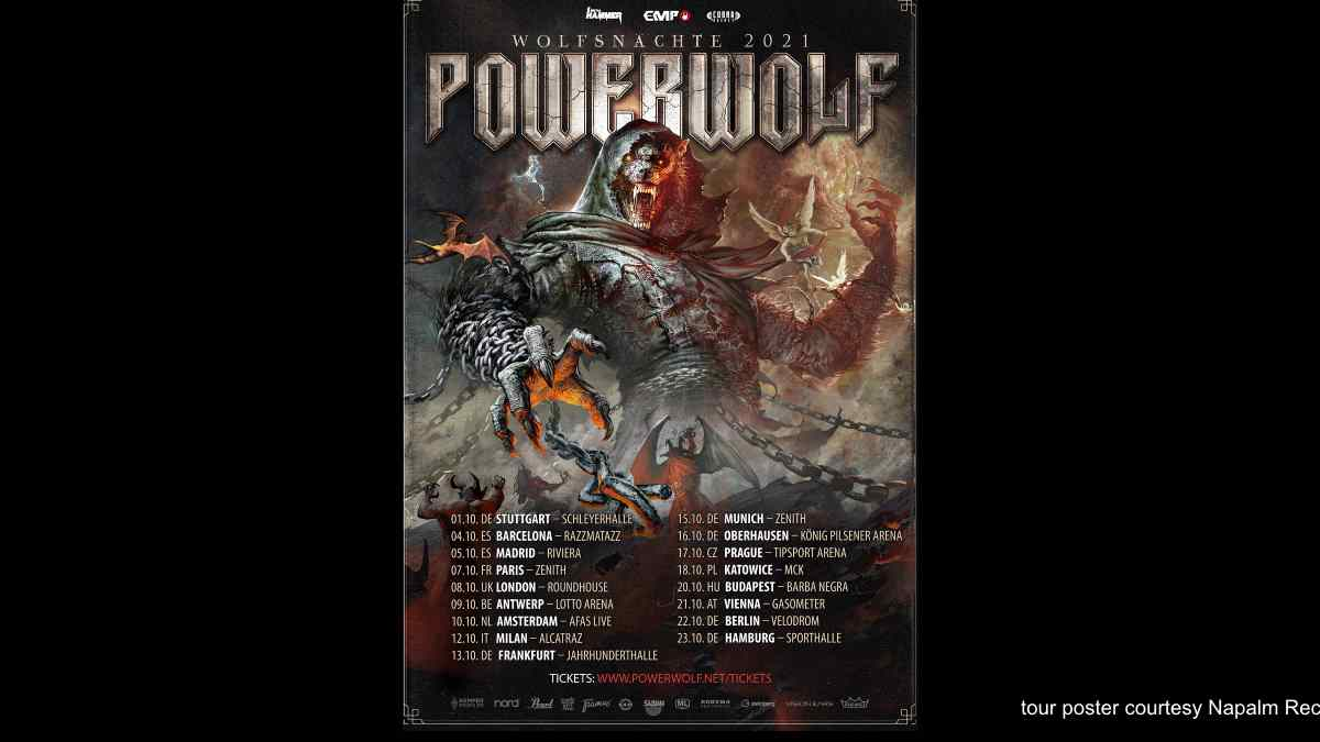 Powerwolf Announce Wolfsnachte Tour