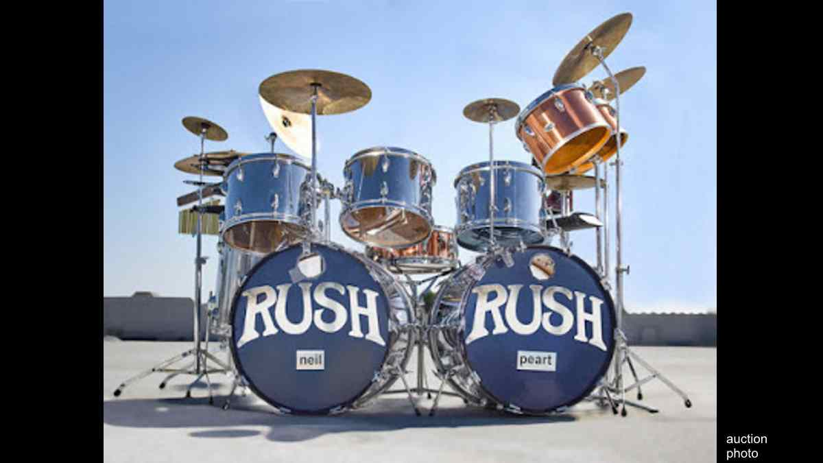 Famed Neil Peart Early Rush Drum Set Up For Auction
