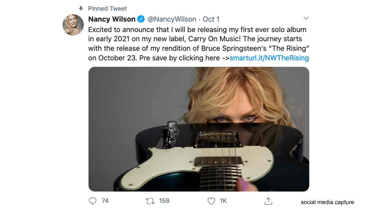 Heart's Nancy Wilson Releasing Debut Solo Album