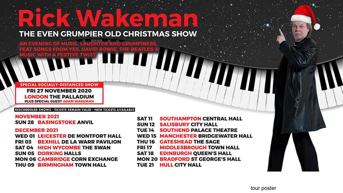 Rick Wakeman Announces Socially Distanced Concert