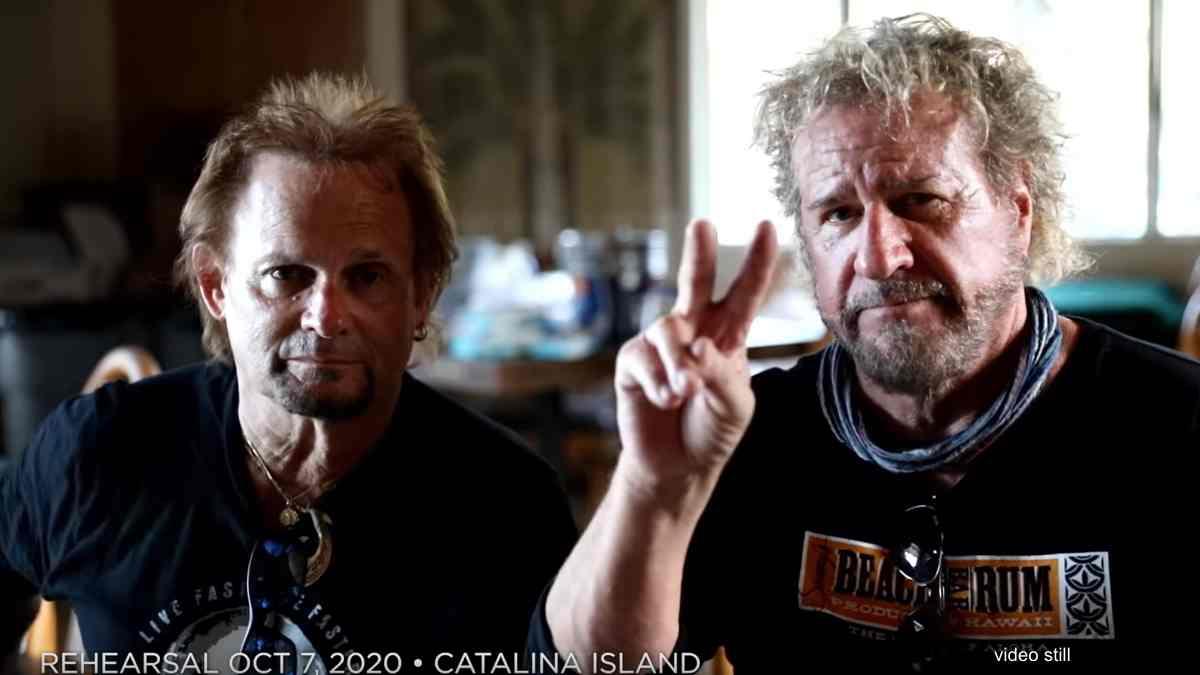 Sammy Hagar and Michael Anthony Tribute Eddie Van Halen