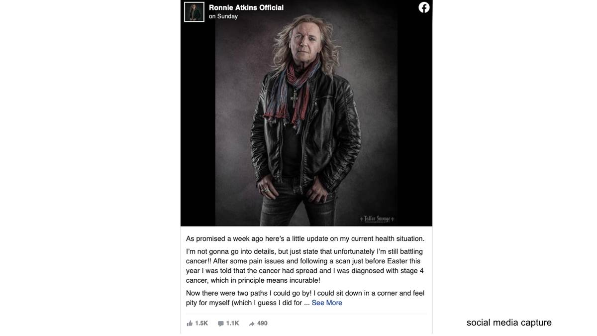 Pretty Maids' Ronnie Atkins Battling Stage 4 Cancer