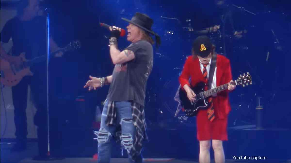 AC/DC's Angus Young Grateful To Axl Rose