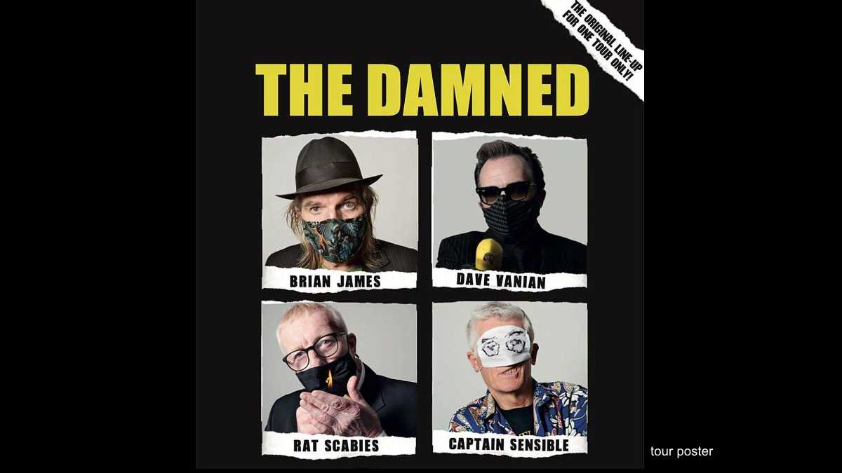 The Damned Original Lineup Reuniting For One Tour Only