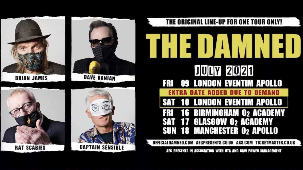 The Damned Add Date To Reunion Tour