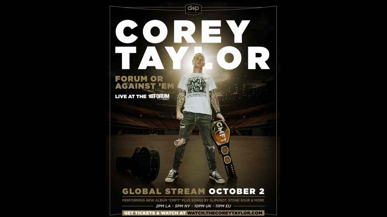 Corey Taylor Announces Special Forum Or Against 'Em Concert