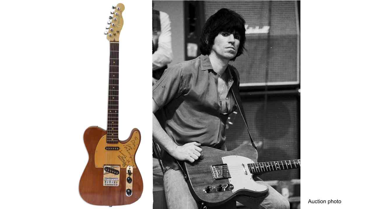 Keith Richards' Some Girls Guitar Headed To Auction