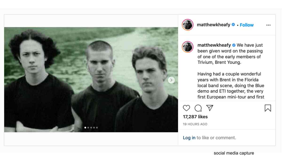 Former Trivium Bassist Brent Young Passes Away