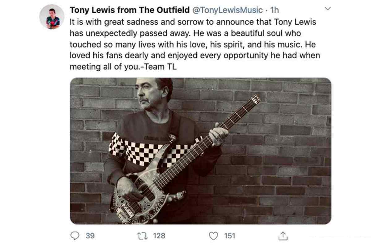 The Outfield Frontman Tony Lewis Died Unexpectedly At Age 62 2020 In Review