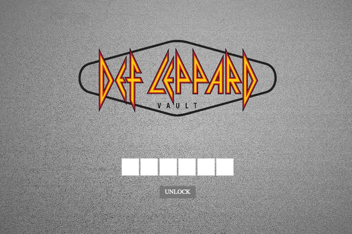 Def Leppard Opening Their Vault Today