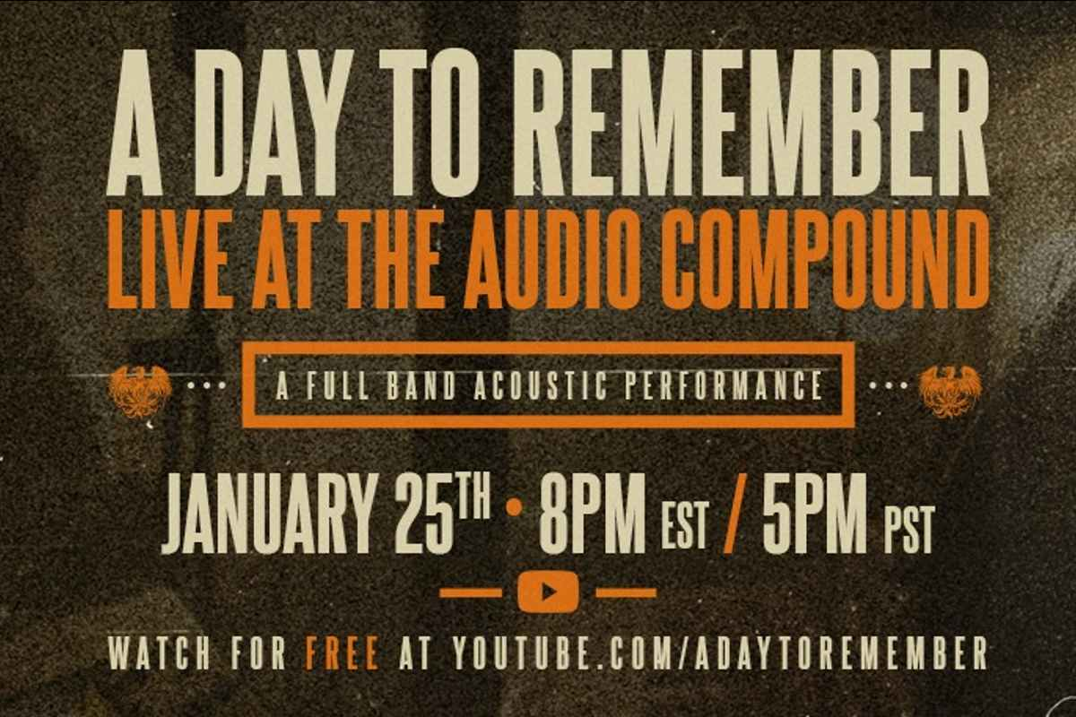 A Day To Remember Release Acoustic Video Ahead Of Livestream