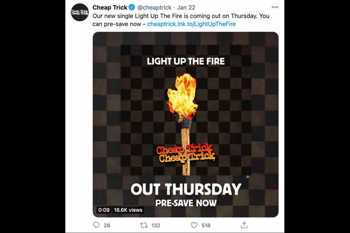 Cheap Trick Preview New Single 'Light Up The Fire'