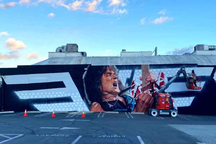 Giant Eddie Van Halen Mural Unveiled On Sunset Strip