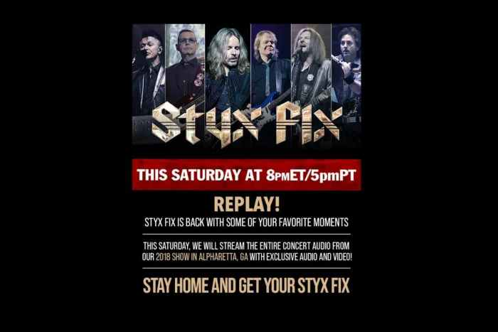 Styx Announce New Fix Live Concert Stream