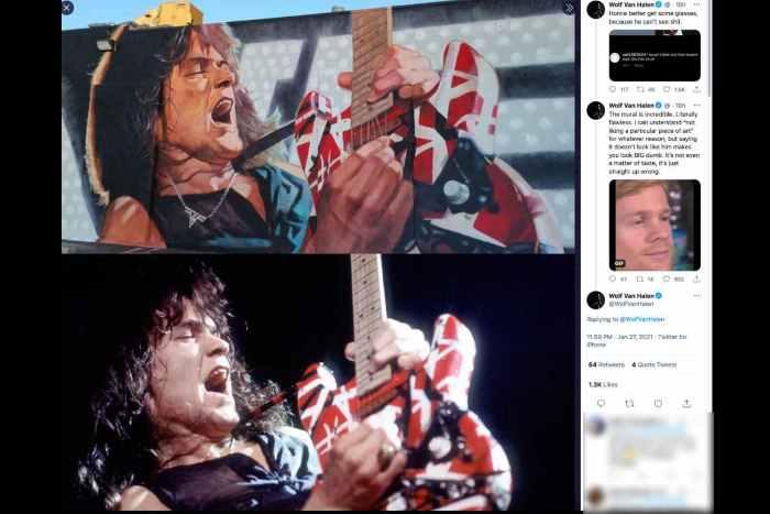 Wolfgang Reacts To Criticism Of Eddie Van Halen Mural