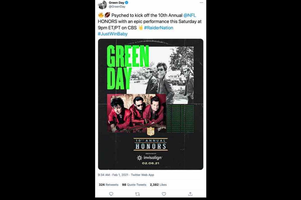Twitter post screen shot