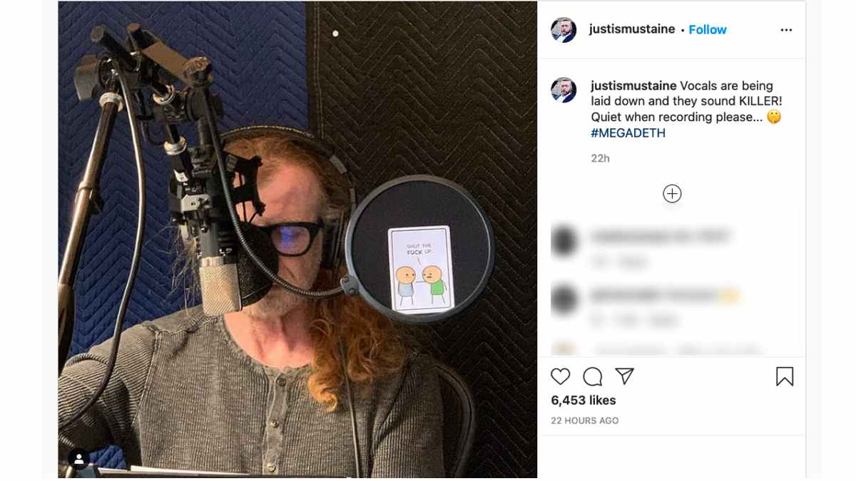 Dave Mustaine Recording Vocals For New Megadeth Album