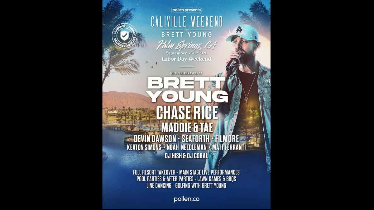 Brett Young event poster