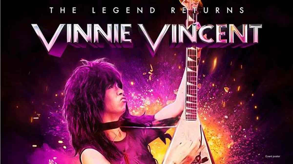 Vinnie Vincent event poster for canceled comeback shows