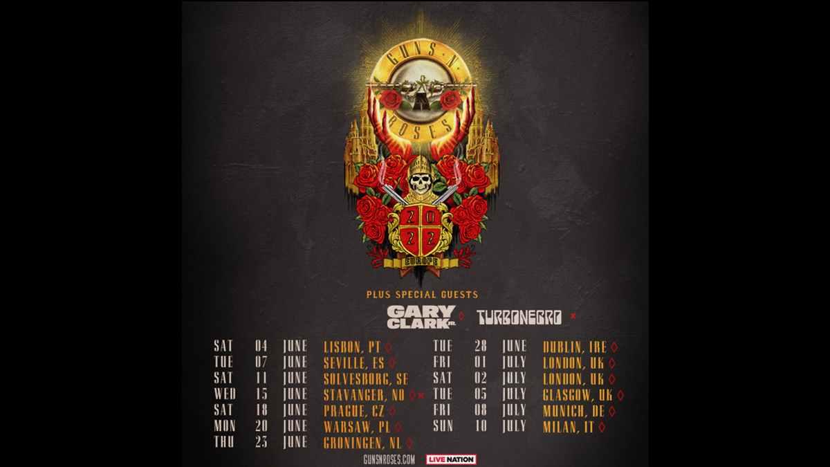 Guns N' Roses tour poster
