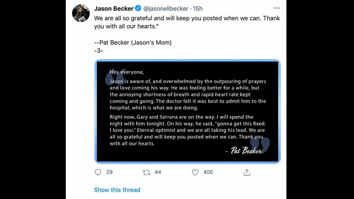 Jason Becker social media capture