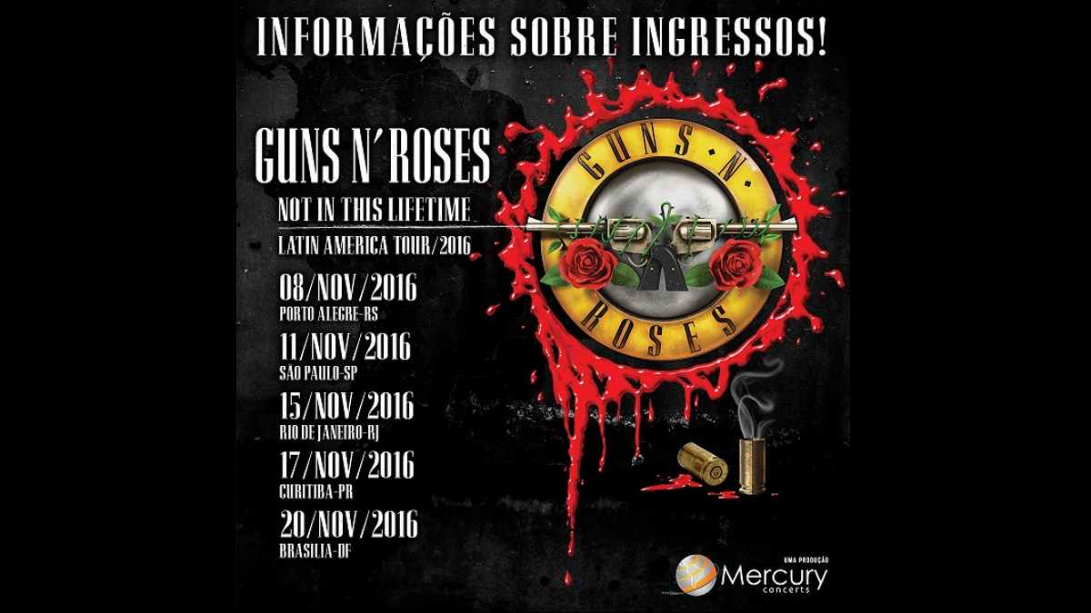 Guns N' Roses Poster for the 2016 Latin American Tour