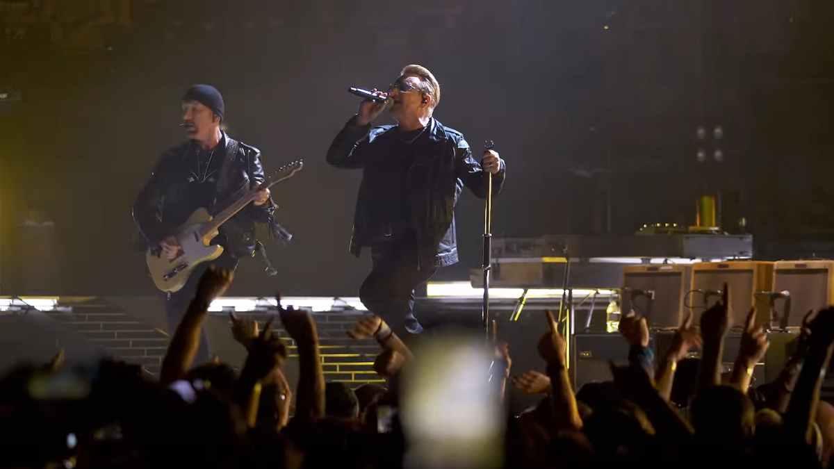 U2 still from the video