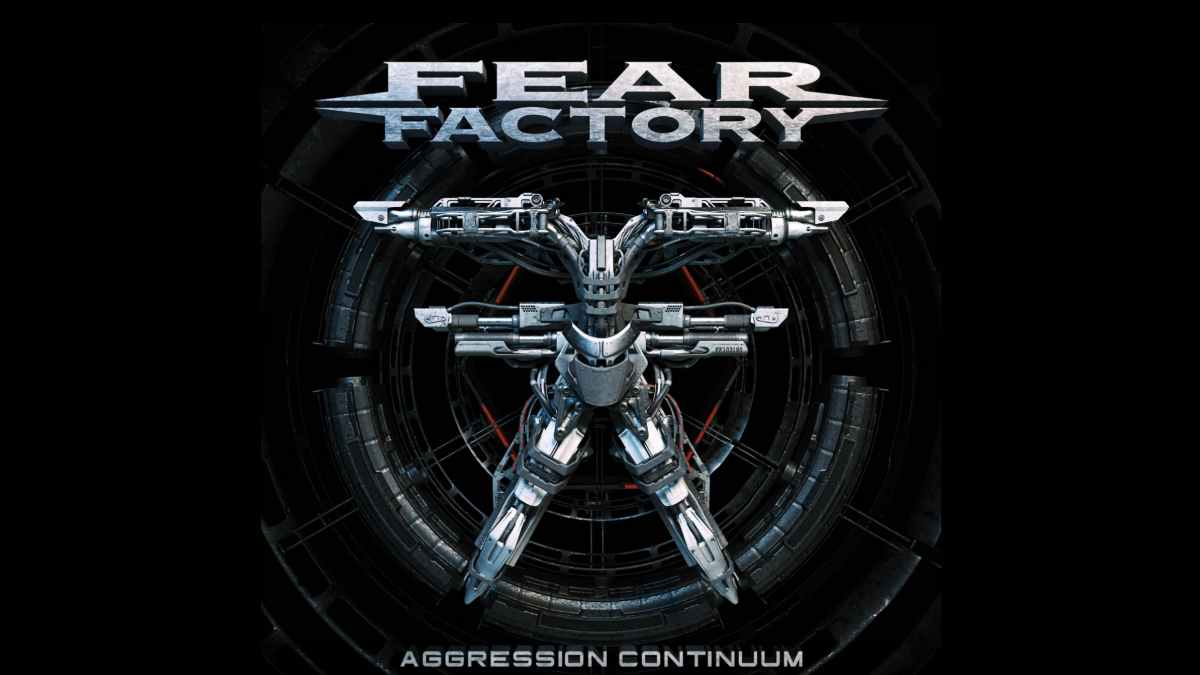 Fear Factory video still of cover art