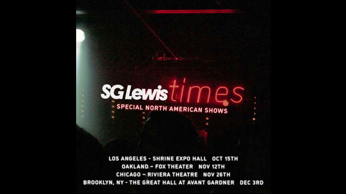 SG Lewis tour poster
