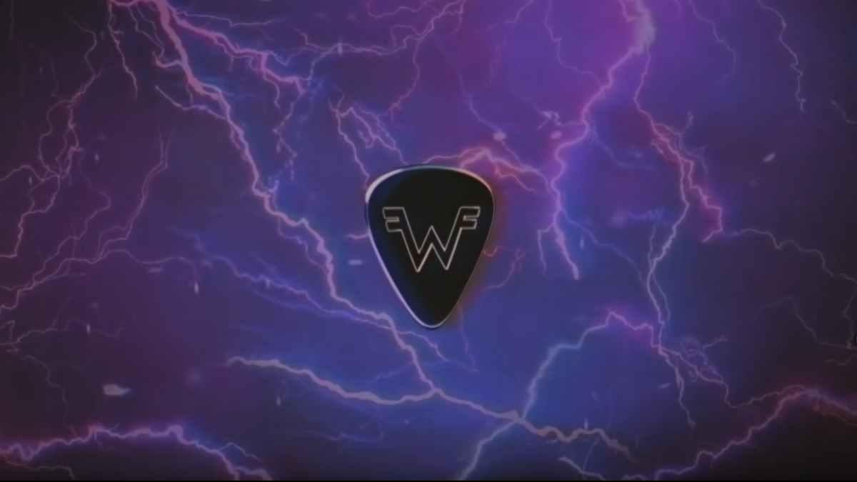 Weezer still from the lyric video