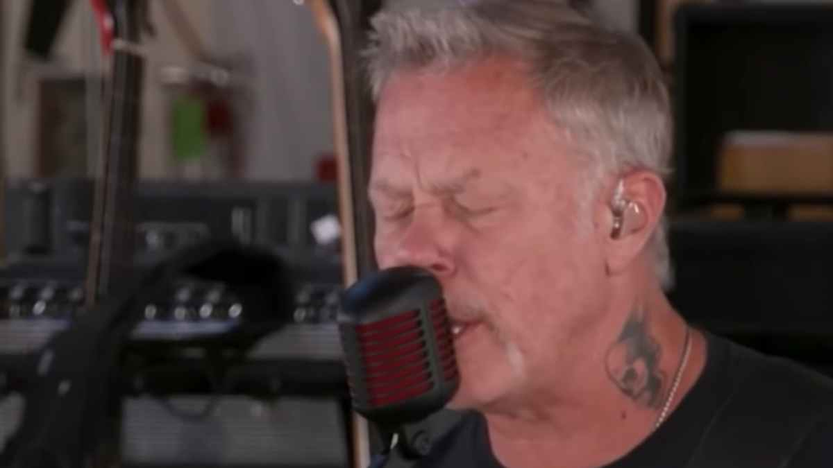 Video still of Metallica performance