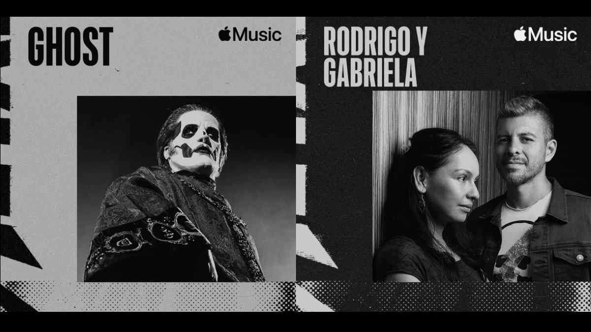 Apple Music promo images for the playlists