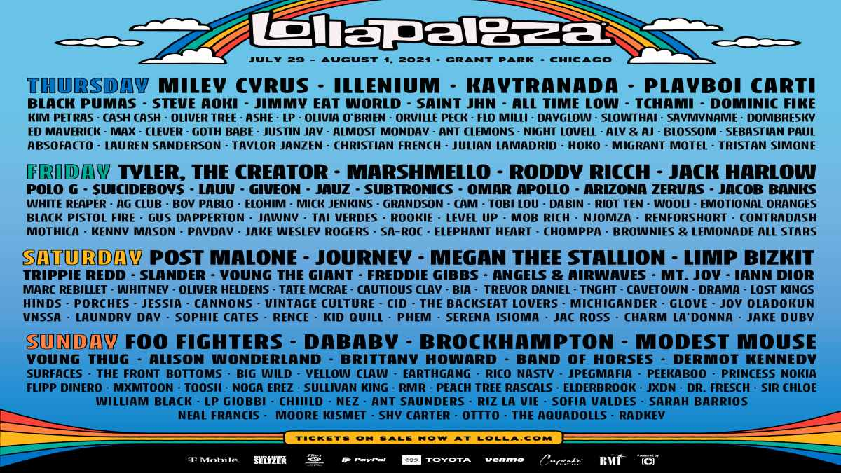 Lollapalooza event poster