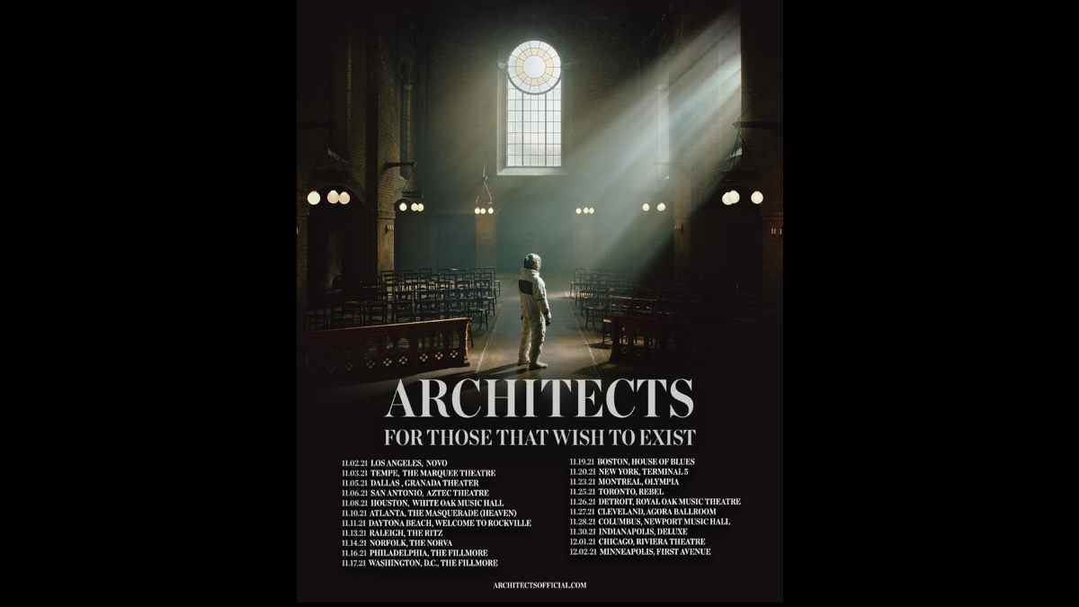 Architects tour poster