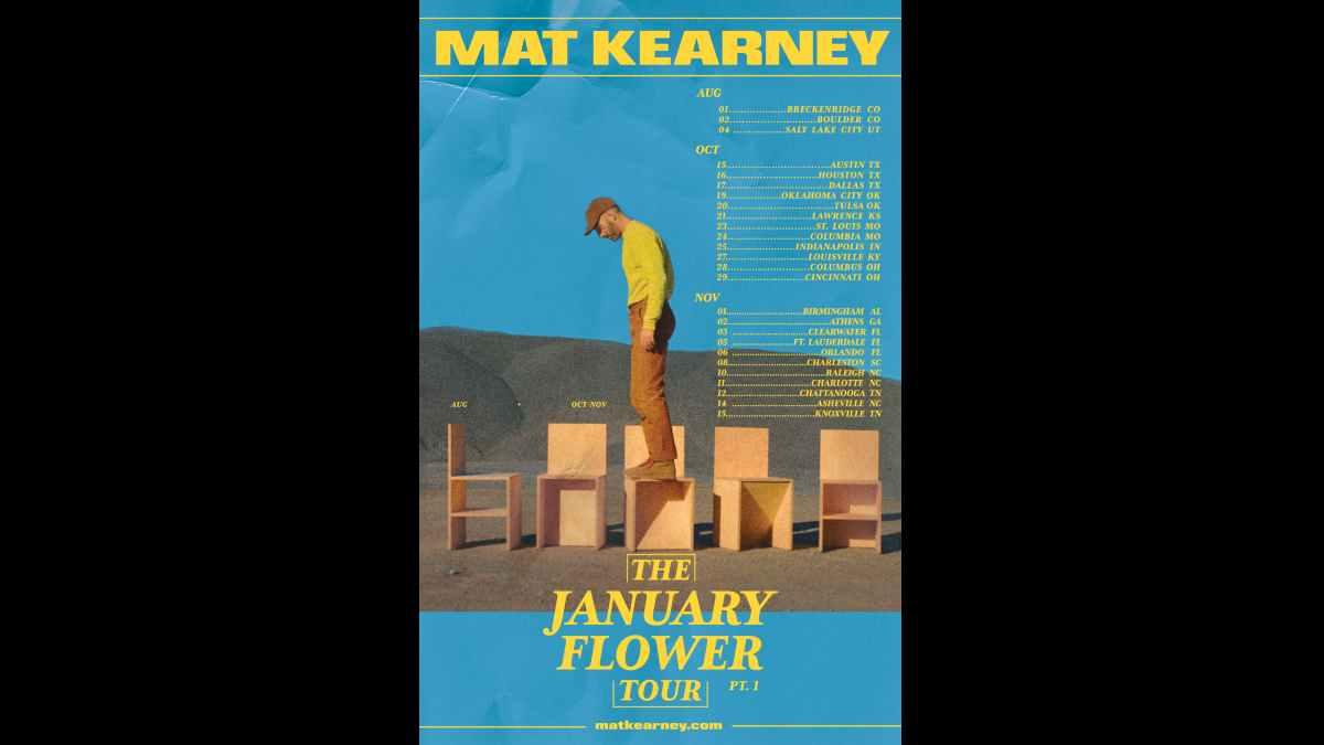 Mat Kearney tour poster