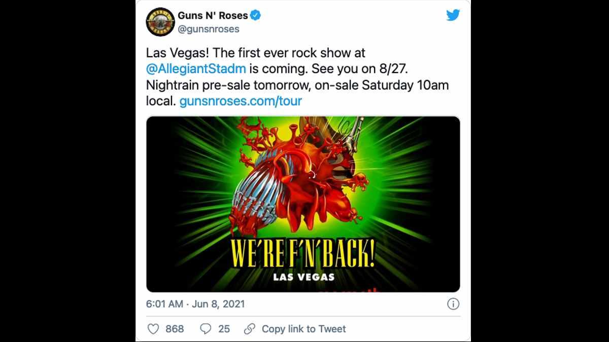 Guns N' Roses social media capture