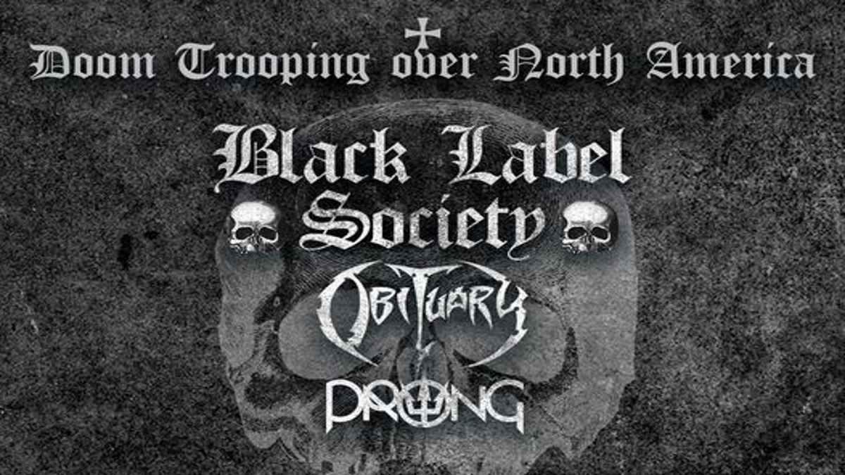 Black Label Society tour poster