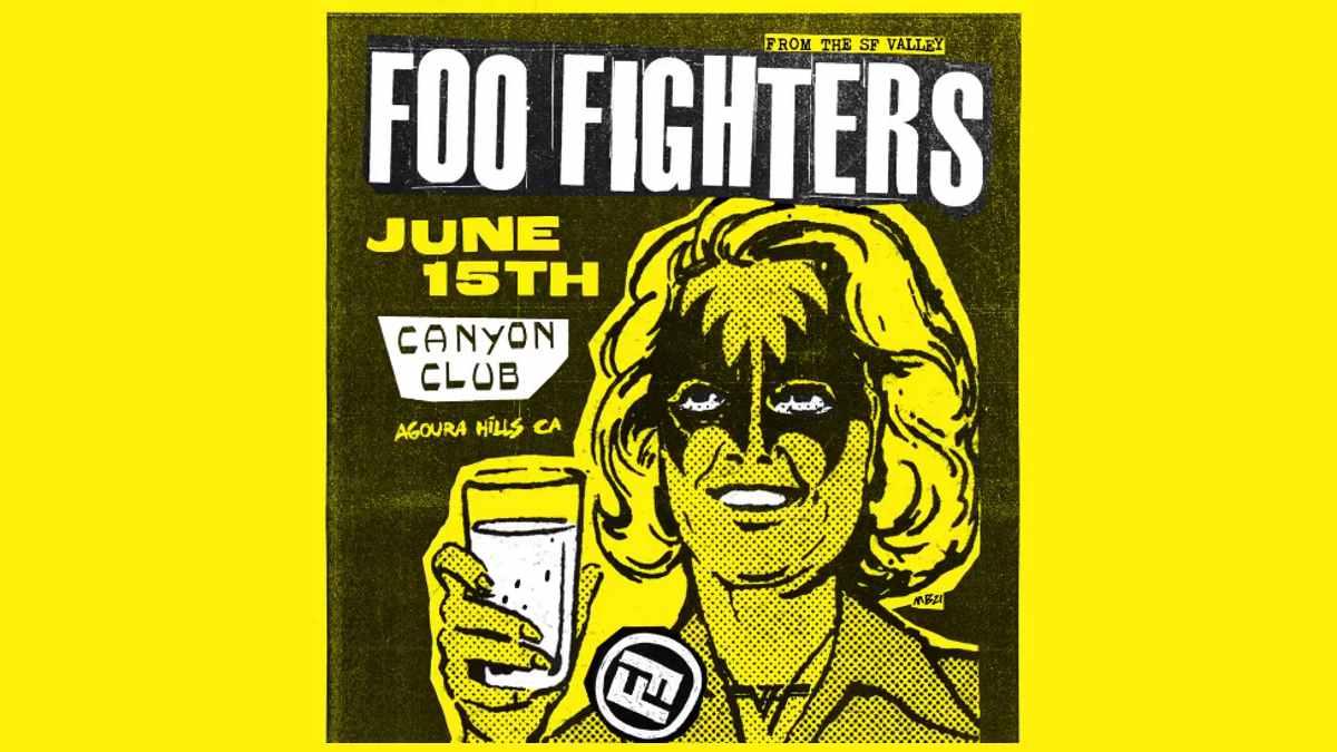 Foo Fighters event poster via social media