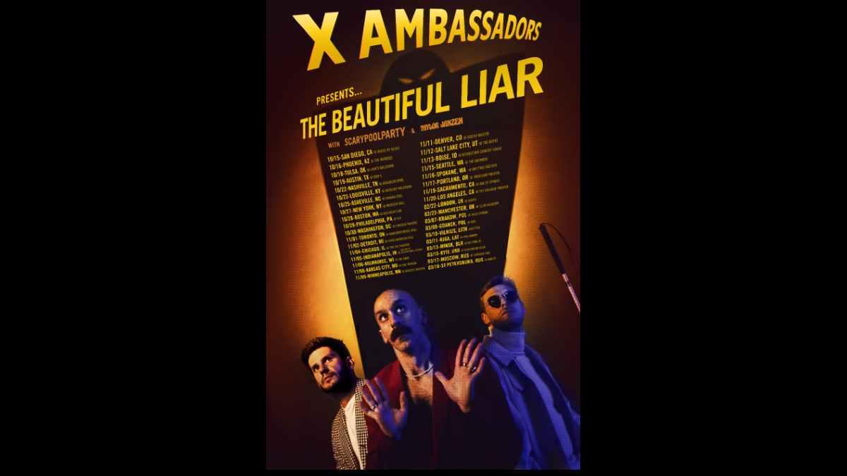 X Ambassadors tour poster