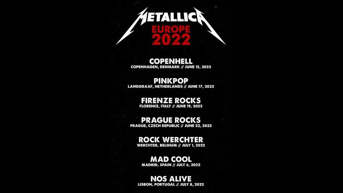 Metallica event poster
