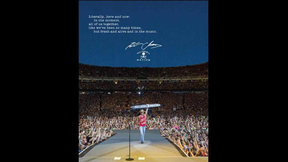 Kenny Chesney tour poster via Facebook