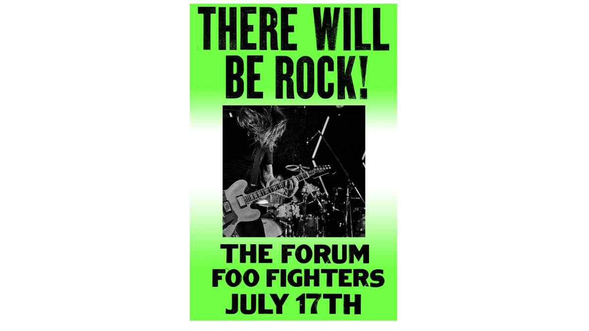 Foo Fighters event poster
